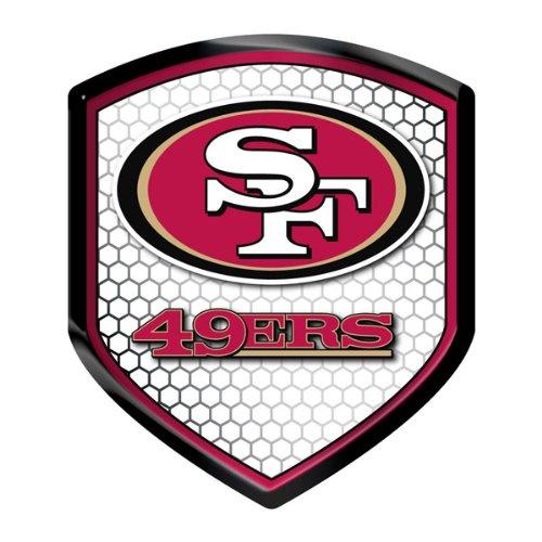 【NFL】 SF 49ers フォーティーナイナーズ シールド型 リフレクターシール