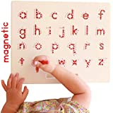 Magnetic Letters Writing and Tracing Board | Alphabet Educational Toy | A-Z Drawing Board | Light and Durable Travel Size for