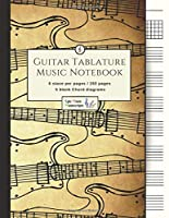 """Guitar Tablature Music Notebook: Blank Music Notebook / Guitar Manuscript / 5 Blank Chord Diagrams / Seven 6-Line Staves / Tablature Staff / Music Paper / Guitar Tab for Guitar Players / Teachers / Students / Musicians / (8.5""""x11"""" - 152 Pages)"""