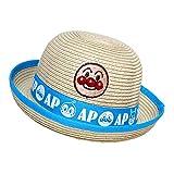 アンパンマン 麦わら帽子 水遊び 遠足 帽子 夏物 ペーパーハット ANPANMAN (ブルー48cm)