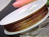 0.45mm・ワイヤー約50m   ワイヤー ゴールド ナイロンコート 天然石・パワーストーン用 ゴールド 0.45mm