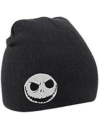 The Nightmare Before Christmas ビーニーハット Skull Logo 公式 メンズ 新しい ブラック