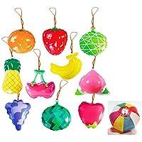 ヨーヨーコレクション フルーツ (10個入り)【パンチボール】  / お楽しみグッズ(紙風船)付きセット [おもちゃ&ホビー]