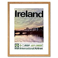 Travel Tourism Transport Ireland Airline Dublin Framed Wall Art Print