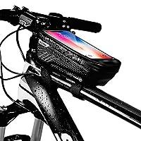 Hi桜の花 自転車 トップチューブバッグ フレームバッグ 収納可能 防水 フロントバッグ 多機能 大容量 携帯電話バッグ タッチスクリーン 防水ジッパー 防圧 軽便 取り付け簡単 サイクリング用 スマホ対応 (様式1)