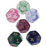 SONONIA 6個 12面 占星術 ダイス サイコロ 星座占い ゲーム おもちゃ