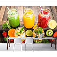 Lcymt フルーツ野菜食品壁紙、リビングルームキッチンレストランファーストフード店バーコーヒーショップ壁画-250X175Cm