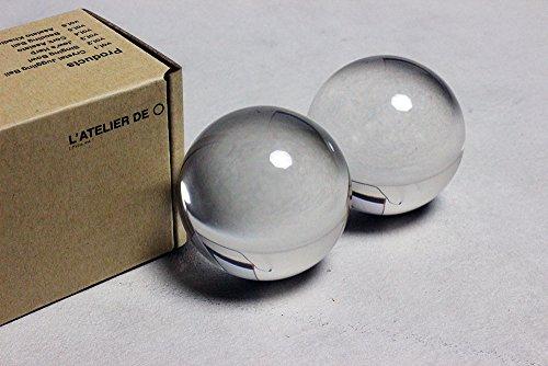 クリスタルボール (オリジナルクリア) (60mm*2個セット)
