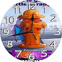 壁掛け時計 ウォールクロック 静音 シンプル 円形 ホーム(2015)-6 印刷 掛置兼用 連続秒針 電池式 カフェ 家 寝室 居間 食堂 掛時計 直径約25cm