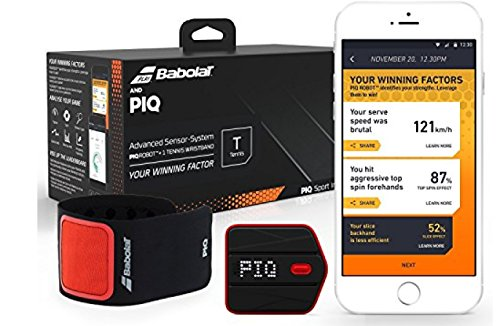 Babolat and PIQ Wearable Tennis Swing Analyzer with Serve Speed and Swing Type Tracking [並行輸入品]