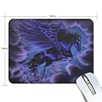 Anmumi マウスパッド 滑り止め 馬 動物柄 天馬座 カコイイ 19×25×0.5cm ゲームに適用 かわいい オシャレ レディース メンズ 子供 ゴム 実用性 パソコン対応