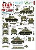 スターデカール 1/72 第二次世界大戦 アメリカ軍 M4シャーマン Dデイ75周年スペシャル フランス ノルマンディ 1944年 プラモデル用デカール SD72-A1033