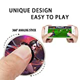 POTOJP スマホゲームジョイスティック モバイルジョイスティック 王者栄耀ゲームのグッズ 円形 Mobile Joystick ミニ 携帯電話ゲームタッチスクリーンジョイパッド ゲームパッド ゲームコントローラ 軽量 小型 携帯便利 全角度360° Android/IOS機種対応 スマホ/タブレット対応 1pc (A)