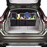 LantooトランクとBackseat車オーガナイザー、2in 1Space Savingトランクストレージオーガナイザーand Back Seat Storage車Cargo Organizerアクセサリー、600d Heavy Dutyデザイン、どの車にも適合or SUV