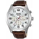 [セイコー パルサー]SEIKO PULSAR 100m防水 クロノグラフ シルバー 腕時計 メンズ PT3663 [並行輸入品]