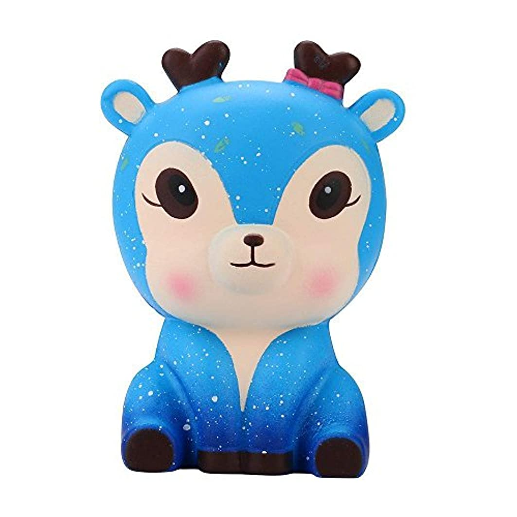菲服 おもちゃ減圧 ストレス カワイイおもちゃ 12.5cm銀河のかわいい鹿 リリーフソフトボールアンチストレスおもちゃ格安のかなり柔らかい子供の大人のリラックスストレスストレスフルな悲しみ