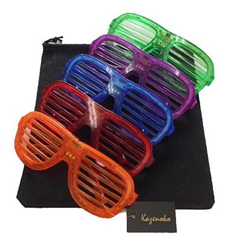 楽しい 光る サングラス LEDメガネ 【 5色 + 収納袋...