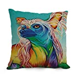 Throw Cushion Covers 18 X 18 Inches / 45 By 45 Cm(both Sides) Nice Choice For Monther,outdoor,relatives,indoor,wedding,sofa Dog Art