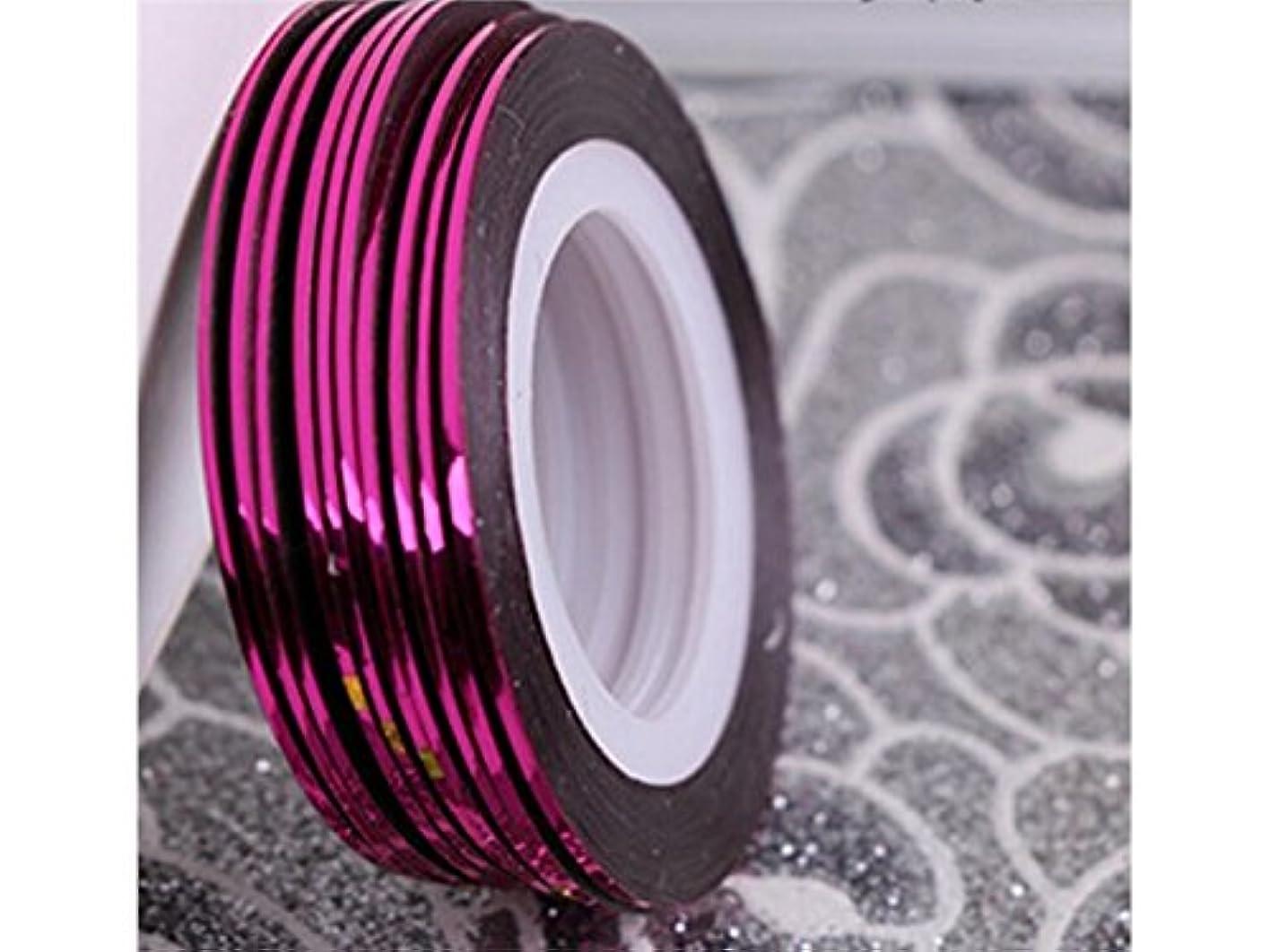 守る療法同種のOsize ネイルアートキラキラゴールドシルバーストリップラインリボンストライプ装飾ツールネイルステッカーストライピングテープラインネイルアート装飾(ロージー)