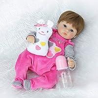 NPKDOLLシミュレーションRebornベビー人形ソフトSiliconeビニール18インチ45 cm Lifelike Vivid Toy Boy Girl rd45 C043o Eyes Open