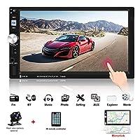 ジェネリック2倍のインゴット7インチ 車ラジオタッチスクリーンBluetooth鏡リンクをサポートオーディオステレオTF/SD/AUX/USBポートFMラジオ +リモートコントロール と背面カメラ HD MP5