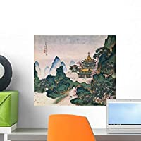 Blue and Green Landscapes Wall Mural by Wallmonkeys Peel and Stick Graphic (18 in W x 16 in H) WM260520 [並行輸入品]