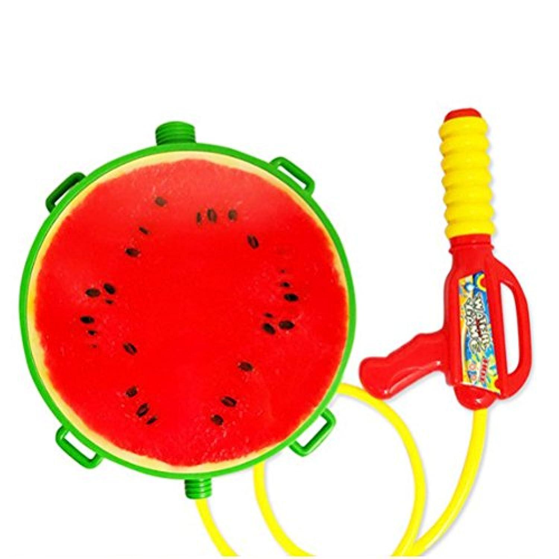 WINOMO 水鉄砲 リュック ウォーターガン タンクスプラッシュ 大容量1.5L 西瓜デザイン 水遊び おもちゃ