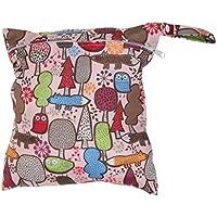 SONONIA 防水 再利用可能 赤ちゃん ジッパー おむつ袋 ウェット ドライ 水泳 トラベル トート バッグ 収納バッグ 全11色 選べる - #7