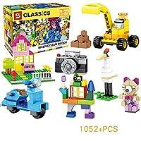小さな粒子DIYビルディングブロック男の子と女の子の小学生プラスチックパズル組み立ておもちゃ,1052pcs