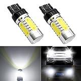 DunGu T20ピンチ部違いダブル電球 LED ライトダブルバルブ ハロゲン*キセノンライトの交換 車検対応  LEDバックランプ ブレーキランプ テールライト ホワイト 純白(二個入り) …