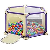 BSNOWF-ベビーサークル 赤ちゃんPlayard黄色反ロールオーバーPlaypens屋内折り畳み式幼児室分周器フェンス男の子女の子安全活動区域