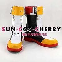 【サイズ選択可】コスプレ靴 ブーツ K-2103 BLAZBLUE マイ=ナツメ MAI NATSUME 女性25CM