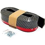 CarOver 汎用 アンダーリップモール カーボン タイプ リップスポイラー フェンダー アーチモール バンパー エアロ CO-RIP-G ビス付き