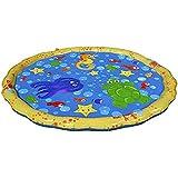 子供 噴水マット 噴水おもちゃ PVC 芝生遊び 水 夏の日 暑さ対策 親子遊び 膨らませるおもちゃ プレイマット 子供プレゼント アウトドア100cm