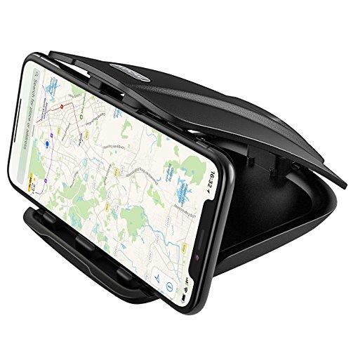 Mpow 車載ホルダー クリップ式 スマホホルダー スマホスタンド ダッシュボード 取付 角度調整可能 安定 便利 GPS iPhone X iPhone 8Plus iPhone 8 iPhone 7Plus iPhone7 Sony Samsung 多機種対応 カーマウント カーホルダー
