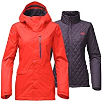 The North Face Womens Thermoball Triclimate Jacket (Medium, Red)