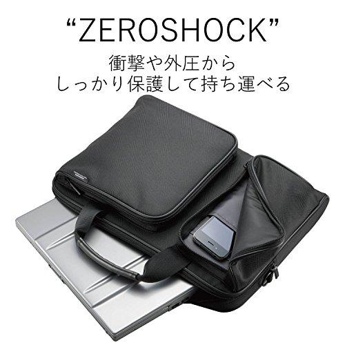 エレコム パソコンバック 衝撃吸収 ZEROSHOCK スリムコンパクト ZSB-BM006NBK