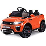 Rovo Kids Range Rover Evoque Inspired 12v Ride On Car with Charger and Remote Control, Orange