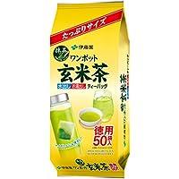 伊藤園 ワンポット抹茶入り玄米茶 ティーバッグ 50袋