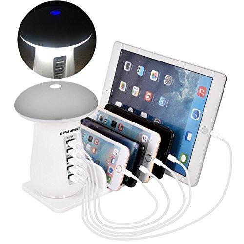 USB充電スタンド USB充電ステーション ledスタンドライト 5ポート USB急速充電器 iPhone iPod iPad Androidスマホ・タブレット対応可能 コンパクトサイズ