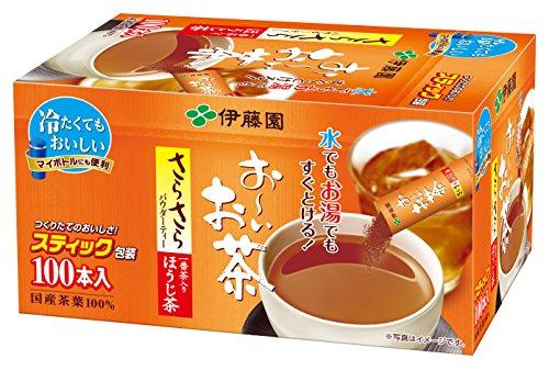 おーいお茶 さらさらほうじ茶スティック 100本