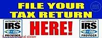 File Your Tax Return Here! Irs Business デカール ステッカー ビジネスストア ビニールサイン - 清潔な表面ならどこにでも貼れます 9.5 x 24インチ