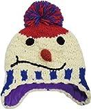 (グリンバディ) GRINBUDDY 耳あて付 kids ニット帽 フリース素材の裏地付き あったか チクチクしない プレゼントにもぴったり (ホワイト)