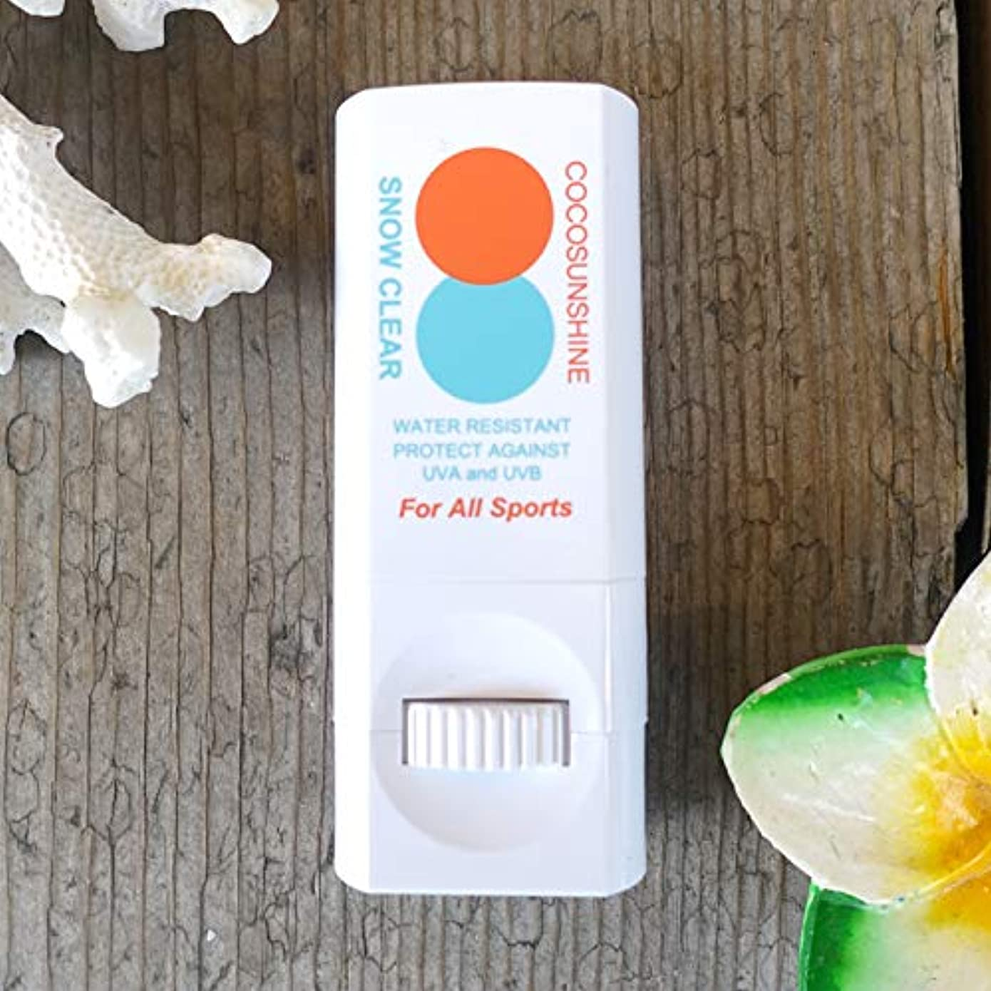 よろめく忙しいクロニクルSnipe Sports Cosmetic(スナイプ スポーツ コスメティック) COCO SUNSHINE ココサンシャイン 固形 日焼け止め スティック 練り出しタイプ UVプロテクト SPF30 PA++ スノークリア
