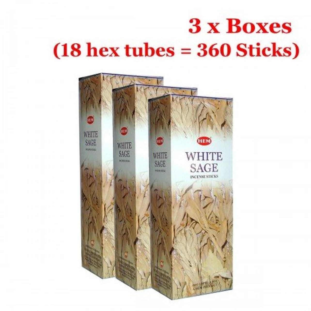 不十分な適応する中毒Hemホワイトセージバルク360 Sticksお香、3ボックス – (360 Sticksバルクper order)