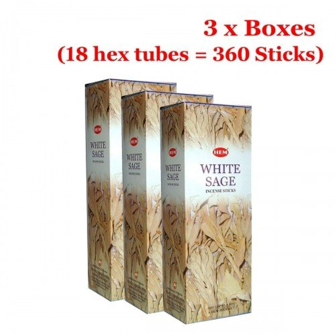 折コカイン試みHemホワイトセージバルク360 Sticksお香、3ボックス – (360 Sticksバルクper order)
