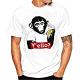 メンズ Tシャツ メンズ Tシャツ BOBOGOJP 男性 オシャレ 半袖 丸首 様々動物柄 トップス 春夏服 薄手 快適 上着 彼氏 プレゼント 誕生日用 父の日 吸水速乾 図案印刷 tシャツ (4XL, オランウータン)