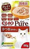 チャオ (CIAO) キャットフード Pure パウチ かつお おかか入り 50g×16個 (まとめ買い)