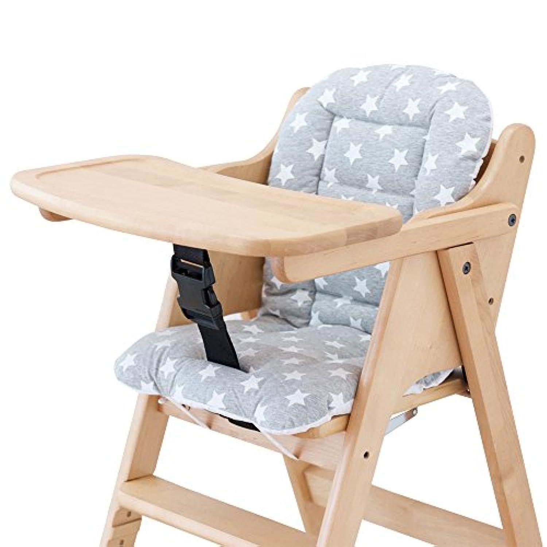 イマージ 木製チェア用クッション 【グレースター】 綿100% 木製ハイ&ローチェア用 お手入れ取り付け簡単