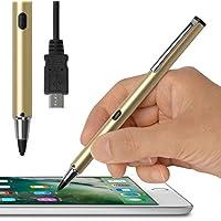 [USB充電対応] 超極細1.9mm スタイラスペン(ゴールド)「Renaissance ZERO 2 〜ルネサンス 零弐〜」 タッチ感度の調整機能付・充電して繰り返し使える電池いらずのバッテリー内蔵型・スリムでスマートな細身ペン軸・ iPhone/iPad/iPad miniシリーズ専用